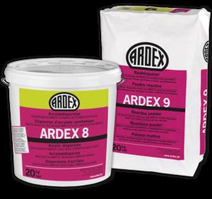 Hidroizolācija balkoniem terasēm ARDEX 8+9 sienu un grīdu konstrukciju hidroizolācijai zem keramikas flīzēm vai plāksnēm telpās un āra apstākļiem