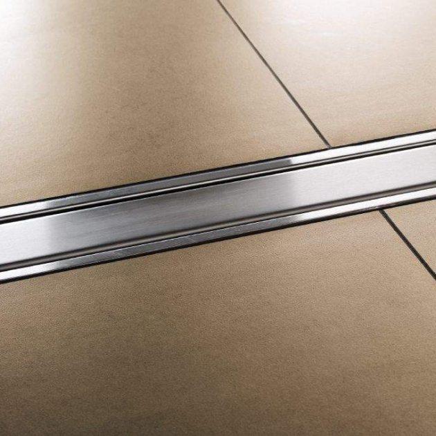 Dušas kanālu KERDI-LINE-A/-B/-C dizaina restes un QUADEC dizaina augstumā regulējamie rāmji ir izgatavoti no skrāpēta vai pulēta nerūsējošā tērauda.