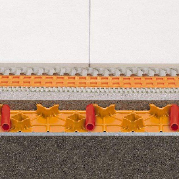 Ūdens apkures grīdas Schluter BEKOTEC-EN18 FTS ir siltās grīdas konstrukcija ne plaisājošu, funkcionāli drošu, peldošo un apsildāmo klonu ierīkošanai.