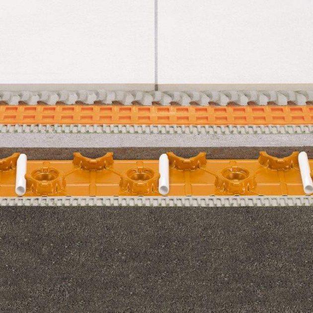 Ūdens apkures grīdas Schluter BEKOTEC-EN12 FK ir siltās grīdas konstrukcija lai izveidotu ne plaisājošu, funkcionāli drošu, peldošo un apsildāmo klonu
