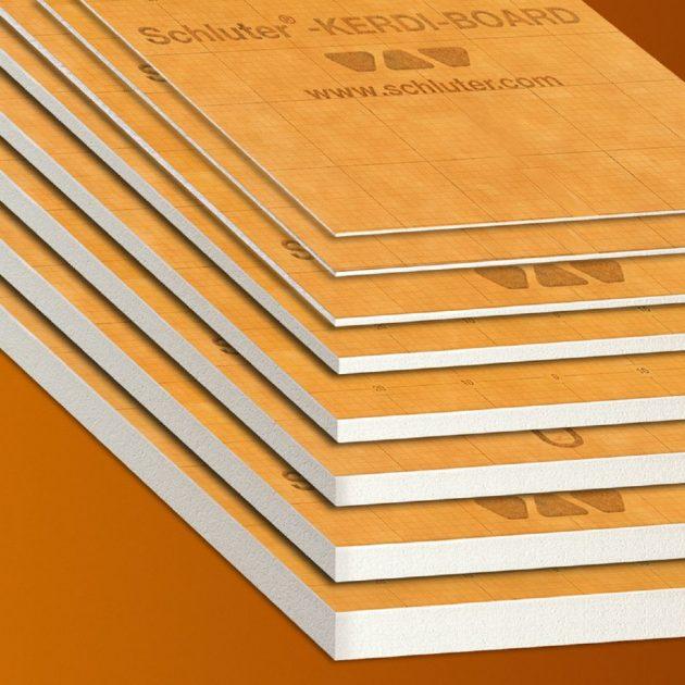 Mitrumizturīgas celtniecības plāksnes Schluter KERDI-BOARD